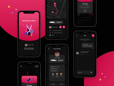 Heetch • Case study flat minimal website app vector web illustration ui design branding