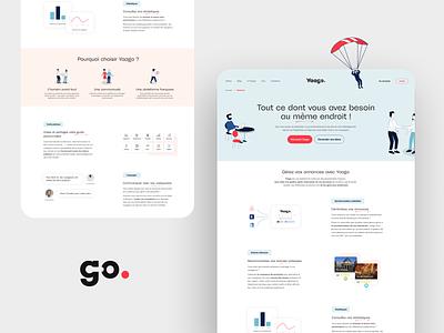 Yaago Design vector flat web ui branding design