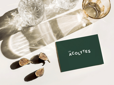 Les acolytes • Restaurant typography logo icon illustration web ui branding design