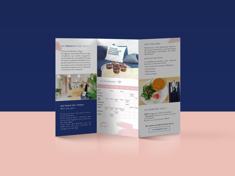 • Yogi Yoga Bar • marketing health print pao flyer yoga care branding design