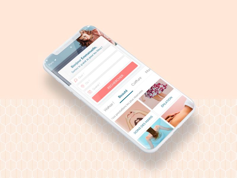 Balinea Homepage App ux design app illustration ui icon beauty app branding design
