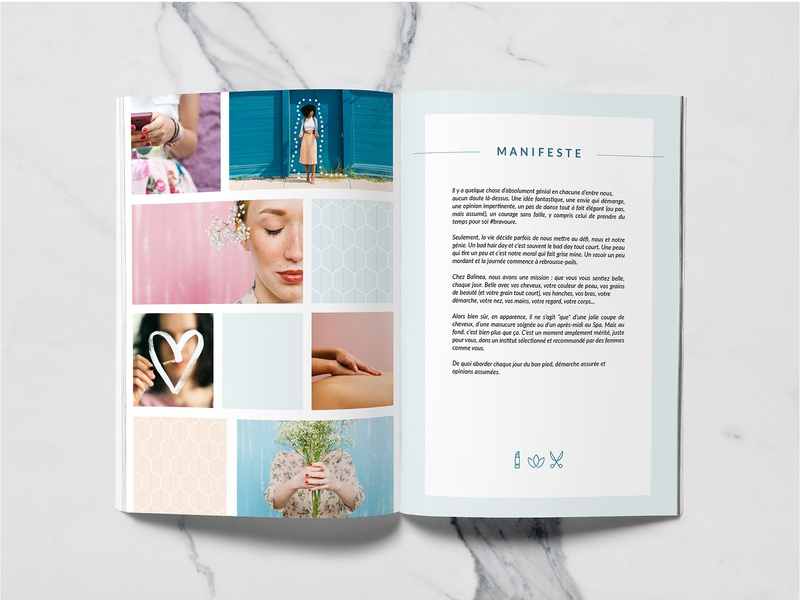 Press file of Balinea brand press page design ui beauty print
