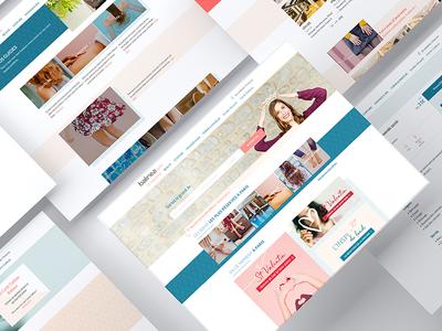 Re-branding UX/UI Desktop Balinea branding beauty ux ui design