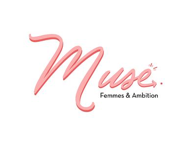 M U S E website illustration app typography vector print logo web branding beauty design