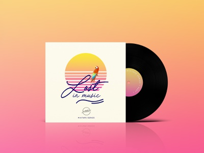 Vinyl • Logo DJ @LeBron music illustration vector logo web vinyl ui branding design