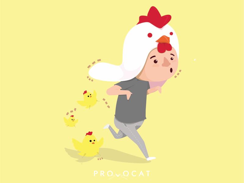 Chicken boy flat kidsbook illustrator