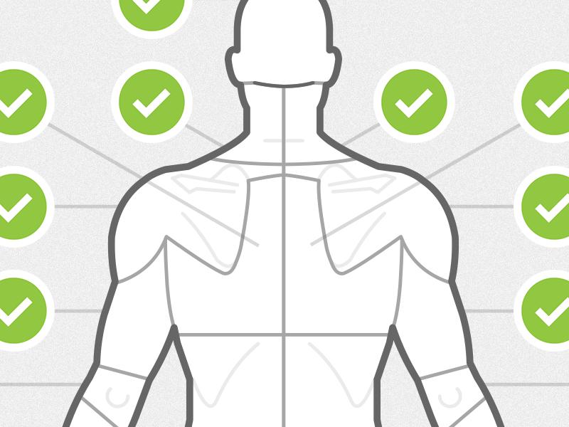 Body chart shot posterior
