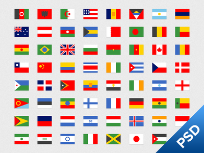 Simple Flags 1 flags flag free psd simple flat icon set vector