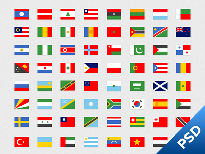Simple Flags 2 flags flag free psd simple flat icon set vector