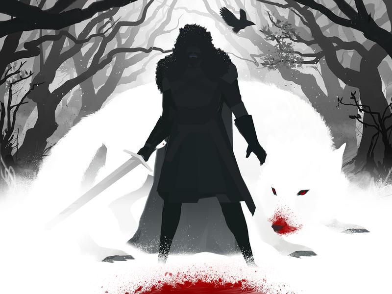 Ghost dark wolf woods snow graphic design design illustration