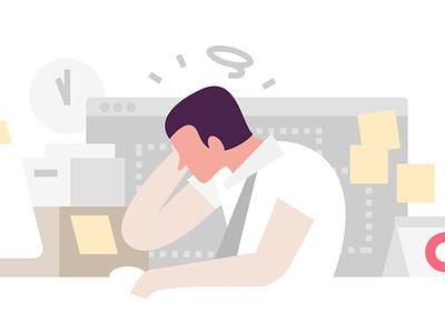 Confused Marketer branding marketing flat design vector illustration graphic design