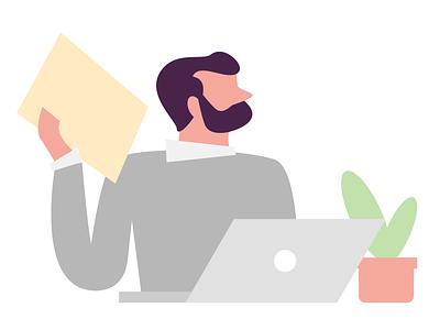Marketer marketer vector flat design web illustration branding graphic design
