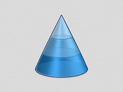 Cone icon graphic design cone hierarchy