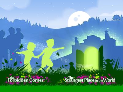 The Forbidden Corner paint color design art folly graphic design garden illustration