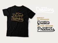 Crestone font.