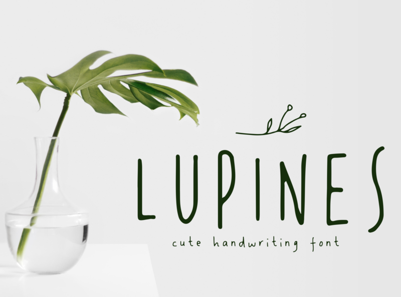 LUPINES fashion chic simple hipster floral craft handwriting badge label organic girly skinny nature cute