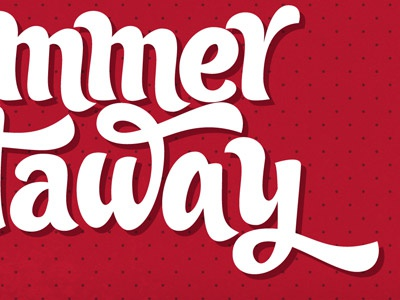 Summer Candy typography retro red