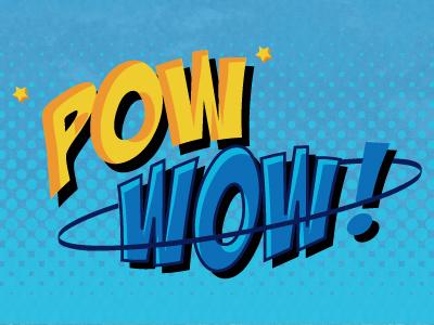 Pow Wow batman comic pop art halftone pow