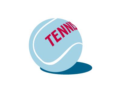 Tennis 3d type ball tennis vector