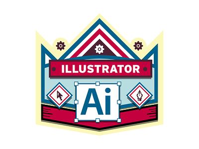Illustrator Badge badge illustrator vector