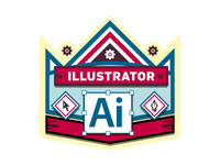 Illustrator Badge