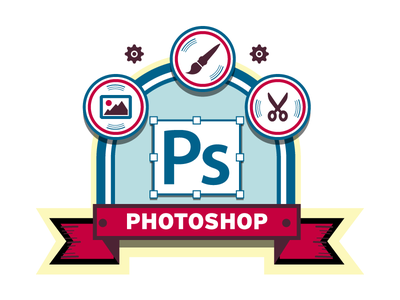 Photoshop Badge badge photoshop ps vector