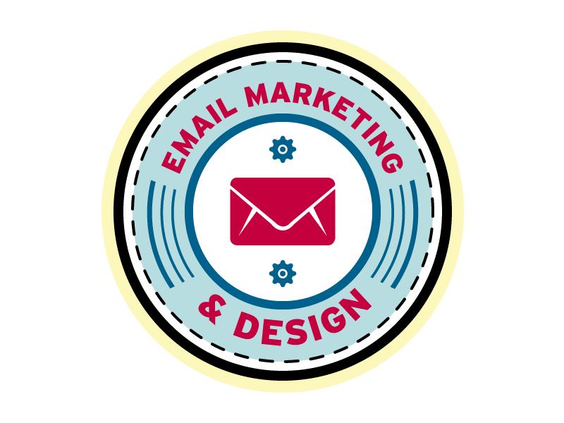 Email Marketing Badge email marketing edm badge mark
