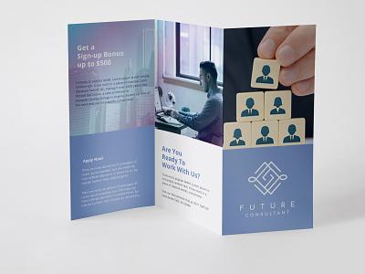 Future consultant branding threefold flyer design brochures flyers