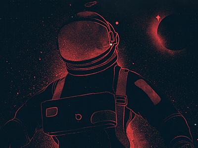 Space Traveller choppre astronaut space travel sun stars galaxy cosmos