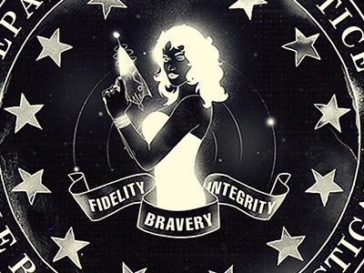 Top Secret Division choppre badasses fbi ray gun threadless nikita