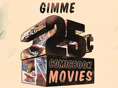 25¢ choppre threadless comic book marvel dc movies