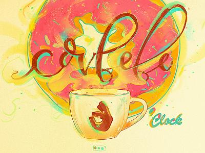 Covfefe illustration mixedmedia clock coffee donut emilekumfa covfefe watercolor nubreedlab