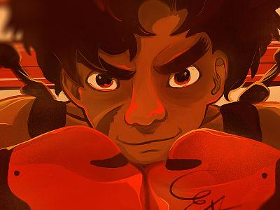Junk Dog fanart manga anime junkdog megalobox illustration art fighting sports boxing nubreedlab