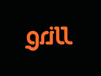 Grill concept logo