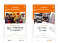 TrendFrend Mobile App UI