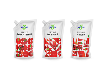 Case study of package design for sauces.