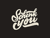 Schenk you. Lettering.