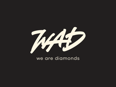 WAD. brush lettering d a w symbols sign mark logotype logo