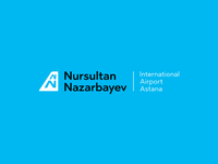 New logo of Astana Airport.