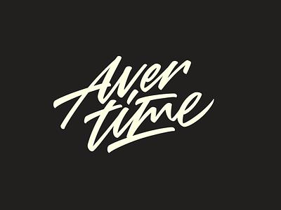 Avertime. brush type hand lettering sign mark logotype logo