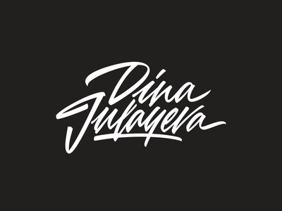 Dina Julayeva — photographer. brush type hand lettering pilot sign mark logotype logo