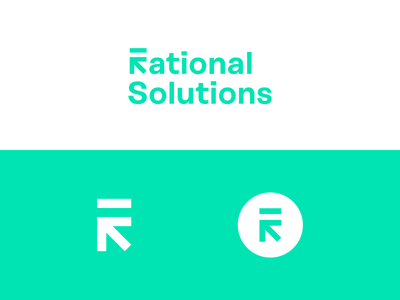 Rational Solutions — consulting service. solution rational line balance circle sign mark logotype logo