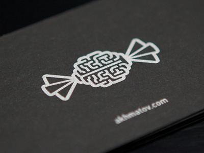 Akhmatov's studio brain logo candy sweet