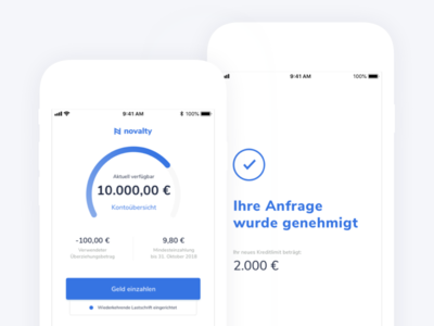 Mobile-first bank banking app