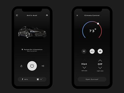 Audi Concept App car app cars ux ui typogaphy iphonex ios app