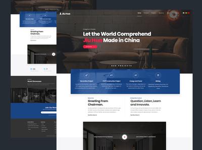 Web Redesign Proposal for Jiu Hua Group II icon typography illustration ux web interaction design clean ui minimal minimalist design