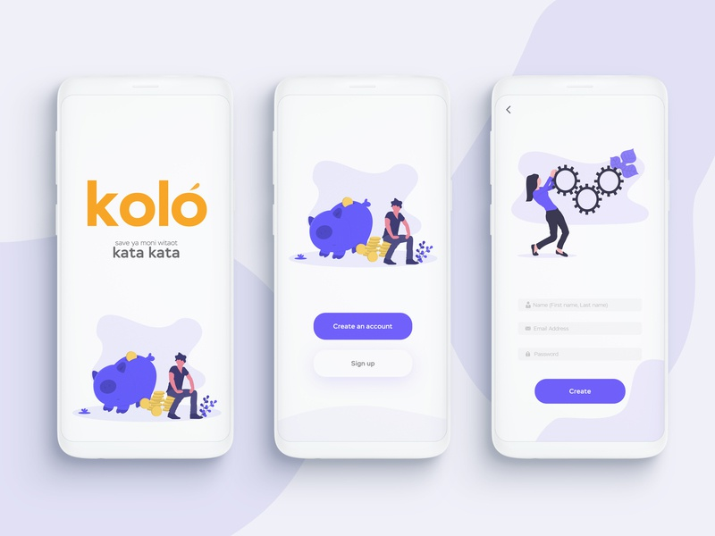 App Concept #Kolo ui app clean banking app minimalist design youth finance app
