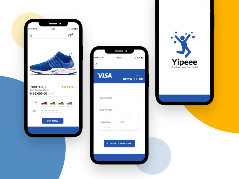 Check Out Page success checkout page interaction clean minimalist design nigeria iphone shoes e commerce ui illustration app