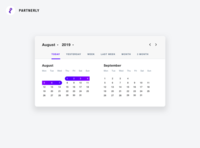 Web app calendar
