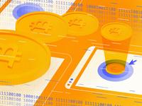 Cryptocurrency Transactions Made Simple bitcoin cryptocurrency texture brush blog procreateapp design vector procreate illustrator illustration